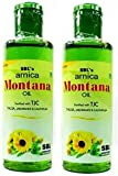 (Pack of 2) SBL's Arnica Montana Oil 200ml Fortified with TJC Thuja, Jaborandi, Calendula