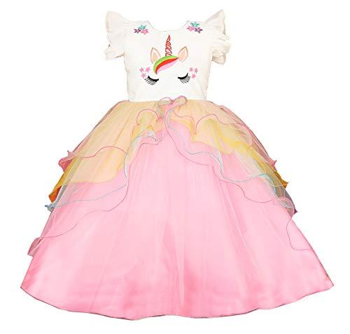 My Lil Princess Girls' Dress Unicorn Ball Gown_24_5-6 Years Pink