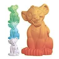 LEXIBOOK NLJ105AN The Lion King Simba Multicolour Nightlight, Disney Colour Night Light for Kids Roo...