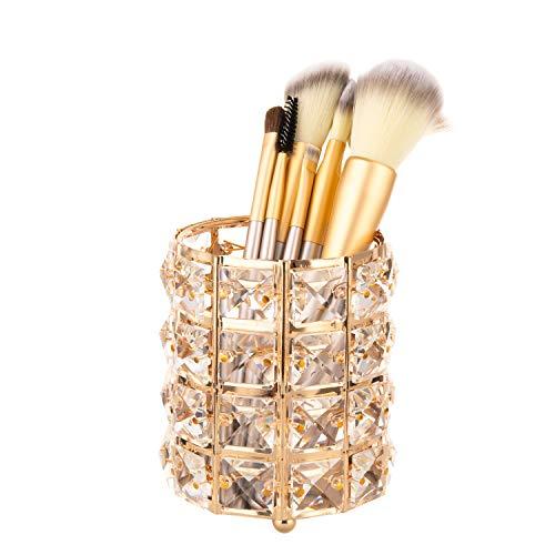 Feyarl Make-up Bürstenhalter Cosmetics Lagerung Organizer SUS304 Edelstahl Cosmetics Container gold