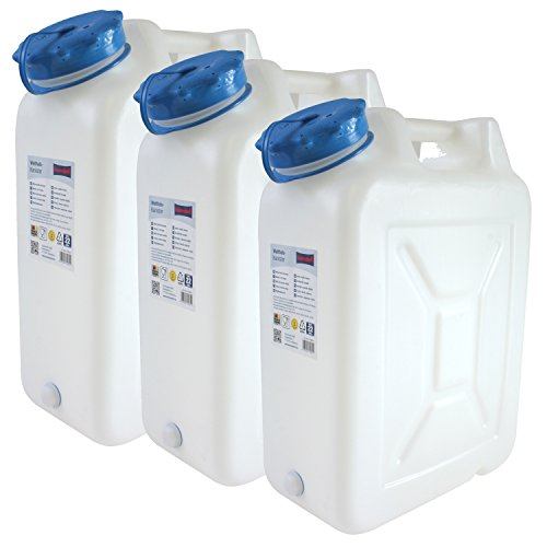 Hergestellt für BAUPROFI 3x Weithals-Kanister 22 Liter PRO 3er Set Lebensmittelkanister Wasserkanister Liter