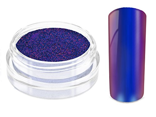 Nailart MIRROR CHROME FLIP FLOP Pigment Puder - POLAR FLASH - Nageldesign Spiegel Effekt Powder - Nail Glitzer Glitter Pulver Mirror Metallic - Nail Dekoration Nagelkunst Naildesign