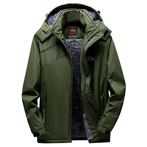 Zarupeng heren/dames winter outdoor jassen fleece en katoen verdikking sport jack met capuchon ritssluiting grote maat hoodie mantel