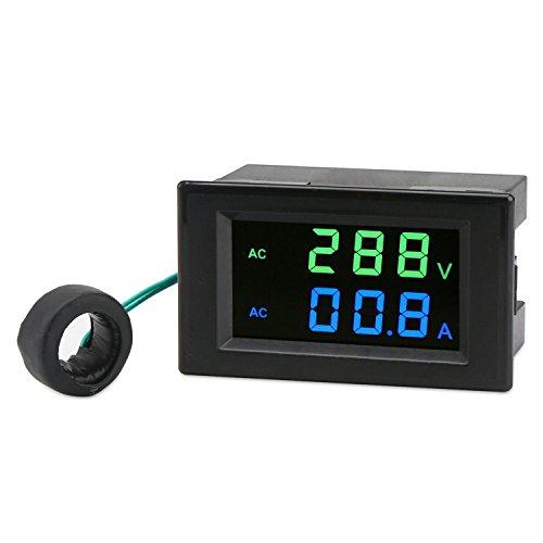 AC-strömmätare, droking 80-300V 100A digital multimeter voltmeter ameter, LCD-display spänning amperage detektor volt amp testare monitor mätare panel med strömtransformator CT