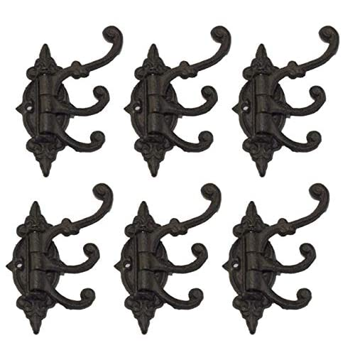 30 Rustic Victorian Cast Iron Hooks Hall Tree Wall Hook Ornate Coat Wall Fancy