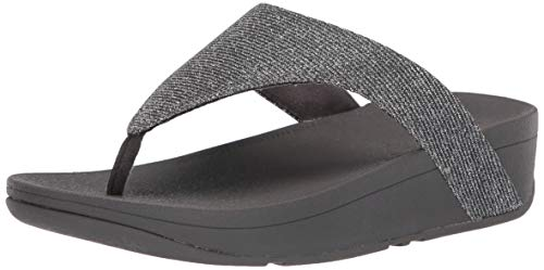 FitFlop womens Flip Flop, Pewter, 9 US