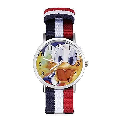 Donald Duck - Reloj de ocio para adultos, moderno, bonito y personalizado de aleación de concha, reloj deportivo casual para hombres y mujeres