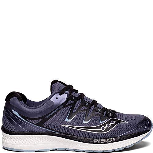 Saucony Men's Triumph ISO 4 Running Shoe, Grey/Black, 10.5 Medium US