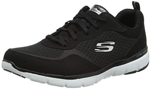 Skechers Women's Flex Appeal 3.0-go Forward Sneaker, BKW, 8.5 M US