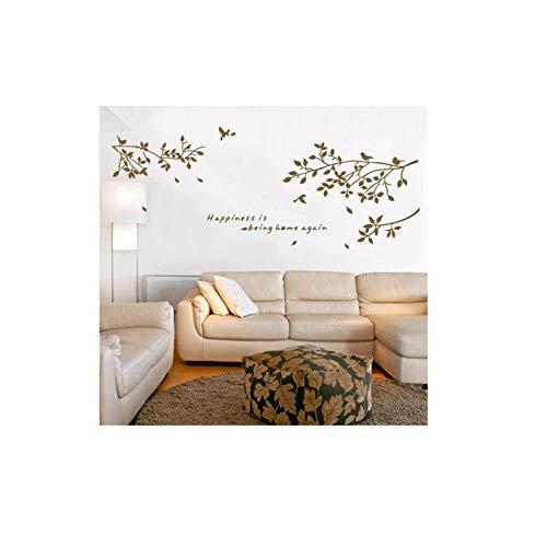 Joycaling Adhesivo de pared extraíble adhesivo de pared de rama, pájaros, decoración de la habitación, 60 x 75 cm, para dormitorio, sala de estar, oficina, baño