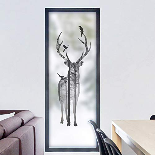 Piero Matglas statische glasfolie raamstickers glas in lood Statisch vastklampen, 40x200cm