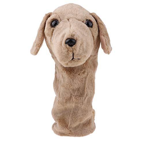 SM SunniMix Golf Club Wood Driver Headcover Hund, Fisch, Tigerkopf, Panda Tierform - Brauner Hund