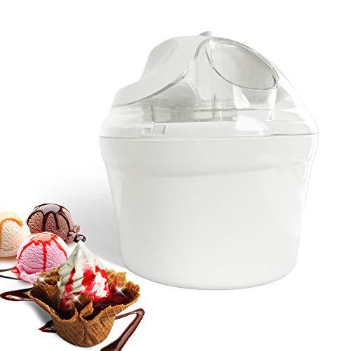 Leogreen Elektrische Eismaschine, 1,4 l, Eismaschine für Eiscreme, Sorbet und Frozen Joghurt, BPA-frei, einfach zu bedienen, hergestellt in 15-30 Minuten
