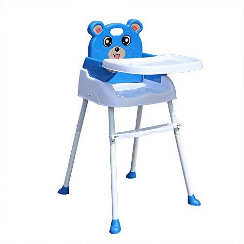 YIYIBY Kinder hochstuhl Baby, 4 in1 Kinderhochstuhl Baby Essstuhl Sitzerhöhung Treppenhochstuhl Klappbar mit Tablett Höhenverstellbar (Blue)