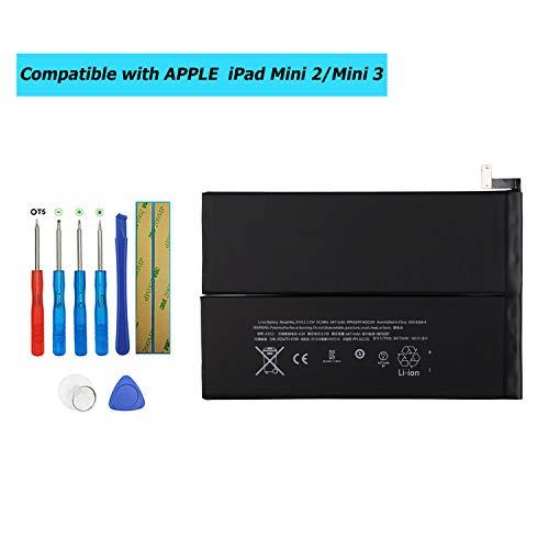 Upplus A1512 vervangende accu compatibel voor iPad Mini 2 iPad Mini 3 A1599 A1600 A1601 A1489 A1490 A1491 A1512 met toolkit