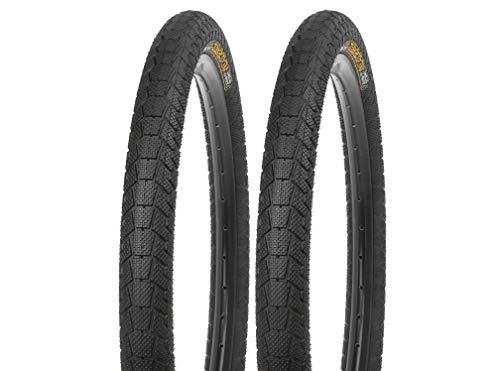 P4B 2 neumáticos de bicicleta de 20 pulgadas (58-406) de 20 x 2,25 pulgadas. Carcasa reforzada para mayor estabilidad durante la conducción. Neumáticos para bicicletas BMX y infantiles.
