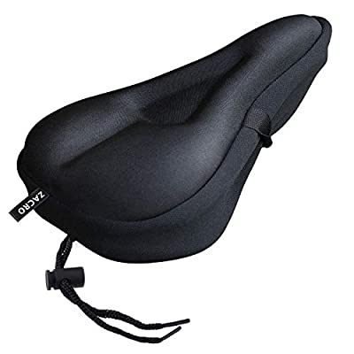 Zacro Gel Bike Seat - Extra Soft Gel Bicycle Seat - Bike Saddle Cushion with Water&Dust Resistant Cover