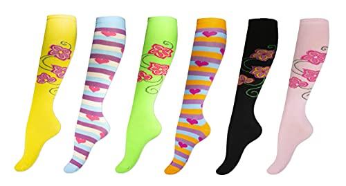 6 Paar Natürliche Baumwollsocken Damen Umweltfreundlicher Box Anti-blister Socken Kniestrümpfe Damen Bunt Bequem Ohne Drückende Naht Angenehmer Komfort Bund Erhältlich in der EU-Größe 35-38
