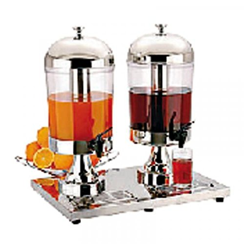 Fantastic Deal! PADERNO - Juice Dispenser Lt. 8 DUO S/Steel
