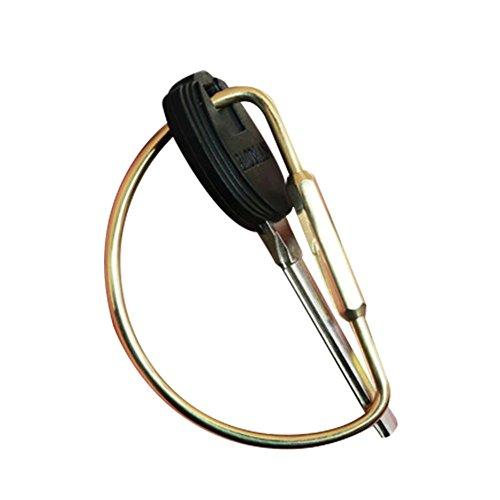 Messing Keychain-Persönlichkeits-innovativer reiner Messingschlüssel-hängender Ring-männlicher und weiblicher Metallschlüsselring