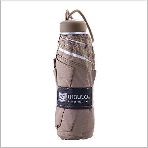Mini-paraplu, 50% zakscherm, zonwering, met zilverkleurige lijm, voor buiten