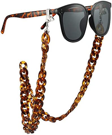 Eyeglass and Mask Chains for Women with Clips Acrylic Sunglasses Necklace Holder product image