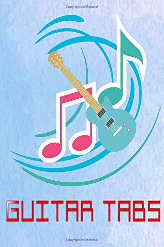 Blank Guitar Tabs: Fingerstyle Guitar Tabs 100 Pages Glossy Cover Design White Paper Sheet Size 6 X 9 INCHES ~ Music - Journal # Journal Very Fast Print.