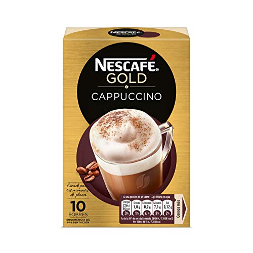 NESCAFÉ Café Cappuccino, Caja de sobres, 6 Paquetes de 10x14g de Café - Total: 840g