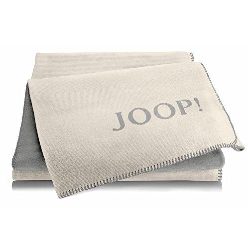 Joop! Plaid Melange Doubleface | Natur-Silber - 150 x 200 cm