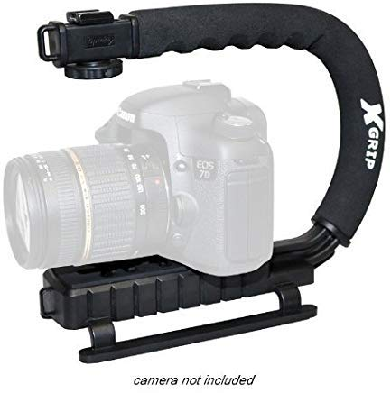 Opteka X-GRIP Professional DSLR Digital Camera Stabilizing Action Video Support Hand Grip Handle Stabilizer Handheld Holder for Canon EOS 1D 1Ds 5D Mark 2 3 II III 6D 7D 10D 20D 20Da 30D 40D 50D 60D 60Da 70D 100D 300D 350D 400D 450D 500D 550D 600D 650D 700D 1000D 1100D 1200D Rebel SL1 XT XTi XS XSi T1i T2i T3 T3i T4i T5 T5i Kiss F N X X2 X3 X4 X5 X6i X50 X70 Powershot SX1IS SX10IS SX20IS SX30IS SX40HS SX50HS SX1 SX10 SX20 SX30 SX40 SX50 IS HS