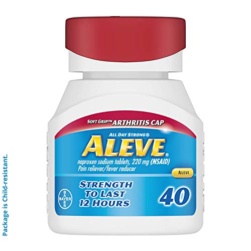 Aleve Soft Grip Arthritis Cap Gelcaps with Naproxen Sodium 220mg NSAID Pain Reliever/Fever Reducer 40 Count