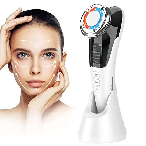 ANLAN Masajeador Facial Instrumento Multifuncional con Frío Calor Fototerapia Roja y Azul para Antiarrugas, Anti-envejecimiento, Limpieza Profunda, Cuidado Facial