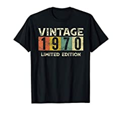 Celebrate your 50th birthday because you're vintage, original, and a legend. This 1970 50th Birthday apparel makes a great gift idea for a fiftieth birthday. January February March April May June July August September October November December. 1970 ...