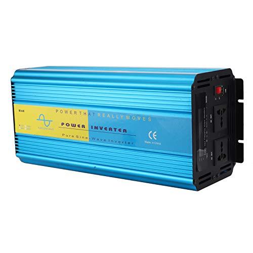 Pinsofy Inversor de Corriente con Pantalla LCD, práctico convertidor de Corriente USB único, protección Duradera para Altas temperaturas para Herramientas Familiares para Trabajo al(AC220V)