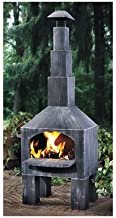 Kotulas Outdoor Cooking Steel Chiminea with Smoke Stack