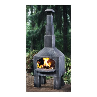 Kotulas Outdoor Cooking Steel Chiminea with...