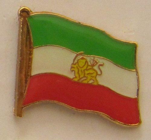 Buddel-Bini Versand Iran mit Löwe Iran Royal Pin Anstecker Flagge Fahne Nationalflagge Flaggenpin Badge Button Flaggen Clip Anstecknadel