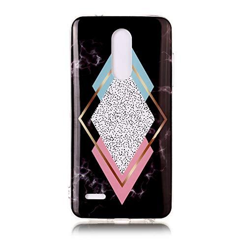 Nodigo Funda Compatible con LG K10 2018/LG K11 Silicona Dibujos Motivo Mármol Blanco Ultrafina Slim One Piece Carcasa Case Antigolpes TPU Bumper Kawaii Resistente Cover LG K11 - Diamante