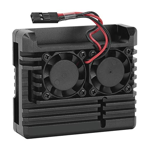 Cooling Case, Aluminium Alloy Protective Box, Quiet Convenient Black for Desktop Computer