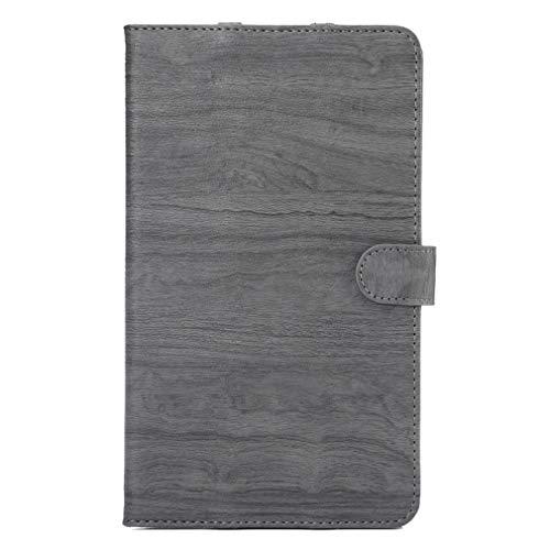 LMFULM® Hülle für Huawei MediaPad M3 (8,4 Zoll) PU Lederhülle Smart Hülle mit Auto Schlaf/Wach Cover Ständer Schutzhülle Flip Cover für Huawei M3 Holz Grau