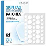 Skin Tag Remover Patches (108 PCS) by PureSmile, Natural Ingredients, New and improved formulation, Skin Tag Remover Pads