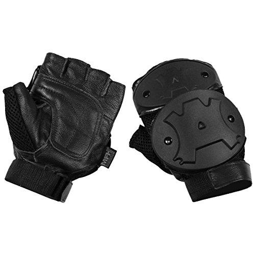 MFH Protective Fingerless Gloves Black size L