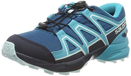 Salomon Kinder Trail Running Schuhe, SPEEDCROSS CSWP J, Farbe: hellblau/marineblau (Lyons Blue/Bluebird/Navy Blazer), Größe: EU 34