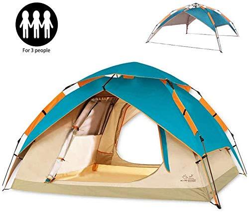 2-4 Persoon DomeTent Automatische Tent voor Camping Dubbele Laag Waterdichte Instant Pop up Hydraulische Automatische Familie Beach Dome Tent UV Bescherming voor Outdoor Wandelen Picknick Rugzak met Draagtas