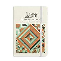 緑の菱形の幾何学的パターン 化学手帳クラシックジャーナル日記A 5