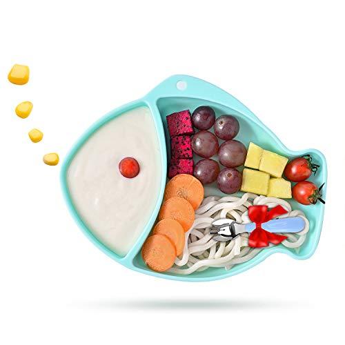 Baby Teller, Silikon Rutschfest kinderteller mit saugnapf passend für die meisten Hochstuhl-Tabletts
