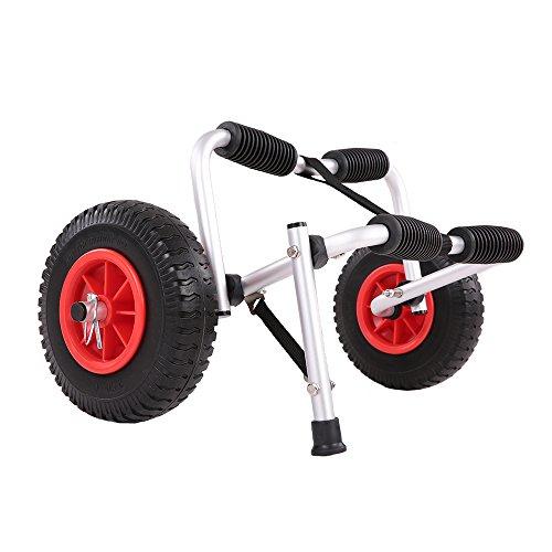 Docooler Kayak Carro de Transporte Plegable, 75 kg Capacidad de Carga, De dos Ruedas de Ahorro de Energía