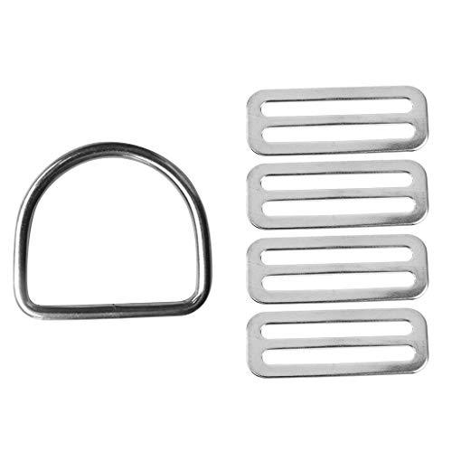Generic 1 Anillo en D para Cinturón de Lastre Del Arnés + Tapón de Cinturón de Pesas de 4 X 2'