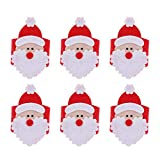 Amosfun - Juego de 12 servilleteros de fieltro para Navidad, fiestas, cenas,...