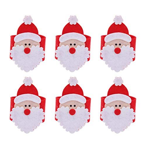 Amosfun 12 Piezas Anillo de servilleta de Navidad Fieltro
